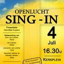 Openlucht Sing-in 4 juli