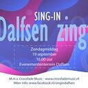 Buiten sing-in op evenemententerrein